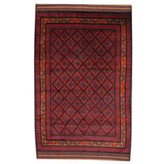 Herat Oriental Semi-Antique Tribal Balouchi Red Area Rug