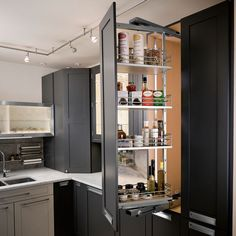 At Harbor City Supply, our pantry cabinet accessories are designed to store cookware and staples safely and securely, while eliminating long reaches into un-organized spaces. Pull-out shelves, trays and drawers give everyone a full view of the contents, while making items easy to access.