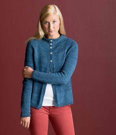 High Button Knitted Cardigan Pattern | InterweaveStore.com