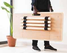 Nifemi Marcus-Bello's Tebur table is carried like a suitcase