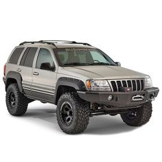 Bushwacker Cut-Out Fender Flares for Jeep Grand Cherokee WJ Lifted Jeep Cherokee, 04 Jeep Grand Cherokee, Jeep Wrangler Lifted, Jeep Wj, Grand Cherokee Overland, Jeep Grand Cherokee Laredo, Lifted Jeeps, Jeep Wranglers, Accesorios Jeep Grand Cherokee