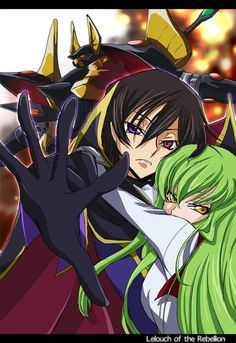 Lelouch and CC. Code geass