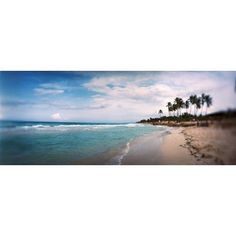 Scenic view of beach against cloudy sky Santa Maria Del Mar Beach Havana Cuba Canvas Art - Panoramic Images (6 x 15)