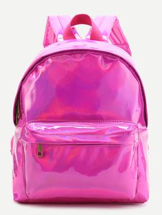 Shop Hot Pink Front Pocket PU Backpack online. SheIn offers Hot Pink Front Pocket PU Backpack & more to fit your fashionable needs.