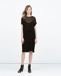 DOUBLE LAYER GATHERED DRESS