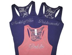 Bachelorette Party Lace tanks! (Not for the price, just for the idea) @Melissa Zavaleta @Gabi Gomez @Tisha Cavazos @Alexandra Garcia