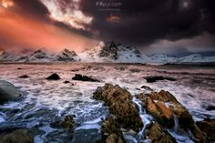 Stormy heights - The storm coming in Lofoten islands