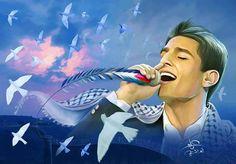 Mohammed assaf!!! Arab idol season 2 winner #Palestine #falesteen