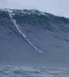 80 foot wave off Western Tasmania - surfer, Bill Jaggerny