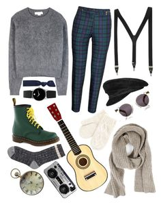 """Untitle"" by anhajin on Polyvore featuring H&M, STELLA McCARTNEY, Hermès, Illesteva, Splendid, Zadig & Voltaire, Mantaray, Movado, River Island and Dr. Martens"