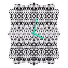 Georgiana Paraschiv Sledge Quatrefoil Clock   DENY Designs Home Accessories