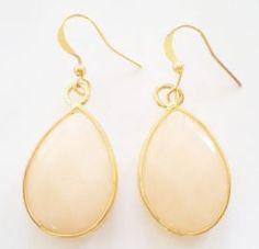 oorbellen goud jade edelsteen
