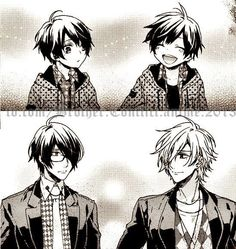 Then and now. Azusa & Tsubaki   Brothers Conflict