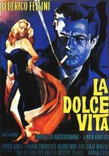 La Dolce Vita (1960 film) coverart.jpg.  Yes sad, but one of great earlier films addressing paparazzi and media