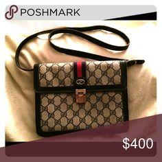 Vintage Gucci Bag Navy GG Shoulder Bag Gucci Bags Mini Bags