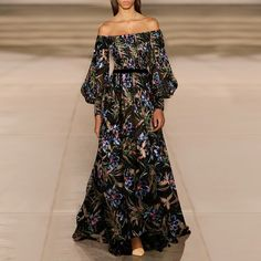 Fashion Floral Print Open Shoulder Maxi Dress Product number brand name tagpink Size S Front_length (inch) Front_length (cm) 1 Floral Print Maxi Dress, Party Dress, Floral Prints, Shoulder, Number, Collection, Dresses, Printed, Style