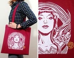 Wonder Motif Tote Bag. This is actually better than the Wonder Woman bag I posted earlier.