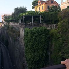 We had dinner at this hotel which is right up against these ruins in Sorrento