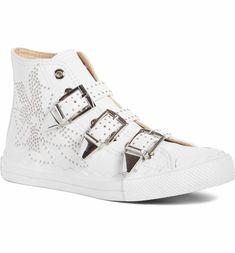 Chloé Kyle Stud Buckle High Top Sneaker (Women)  62c1ffa1f47b