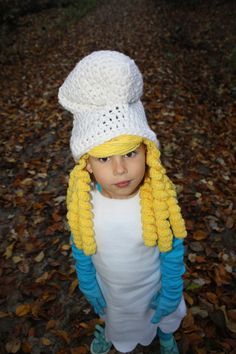 Smurf Smurfette EASY Crochet Hat Pattern Size Child & Teen/Adult Buy 2 Get 1 Free