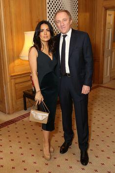 Salma Hayek & Francois-Henri Pinault at a reception hosted by Samantha Cameron at 10 Downing Street