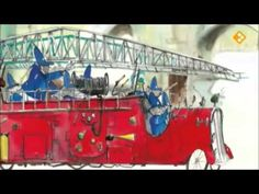Spuit Elf en de brandweerolifanten (digitaal prentenboek) Een kleine brandweerolifant wordt ontslagen omdat hij altijd te laat bij een brand komt, maar dan redt hij onverwacht de kazerne als deze in brand staat. Fire Engine, Firefighter, My Boys, Childrens Books, Transportation, Engineering, Songs, Ambulance, Education