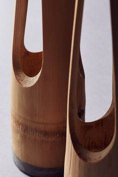 LENTUR vase resembles a delicate yet poetic masterpiece inspired by the gesture of one's three fingers holding a flower stem. A naturally bent curvature and a tapered triangular shape at. Bamboo Structure, Fingers, Diy And Crafts, Peep Toe, Sculptures, Delicate, Vase, Inspired, Flower