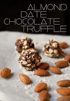 Almond Date Chocolate Truffle - Vegan | @Susan Salzman | www.theurbanbaker.com