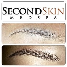 Permanent, Feathered, Hair Stroke Eyebrows at www.secondskinmedspa.com