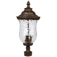 Capital Lighting 9785TS Ashford 3-Light Outdoor Post Lantern, Tortoise with Hammered Glass by Capital Lighting. $142.92. From the Manufacturer                The Capital Lighting 9785TS Ashford 3-Light Outdoor Post Lantern is a regal, traditional design, that will enhance a space without interruption. Nothing lends radiance and atmosphere quite like lantern light. Whether you are looking for that perfect post lantern for your outdoor living space, driveway or ...