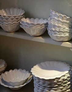 The most perfect china: the earthy and elegant Astier de Villatte. Handmade in Paris of black terra cotta with a milky white glaze, the delicate pieces are extremely durable, despite their fragile appearance. The Parisian headquarters are located at 173 rue Saint-Honore; well worth a visit if you are lucky enough to be in Paris.