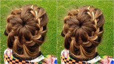 How to : DIY Starburst Braided Bun Hairstyle Tutorial Box Braids Hairstyles, Box Braids Updo, Braided Crown Hairstyles, Braided Hairstyles Tutorials, Winter Hairstyles, Braided Updo, Hair Tutorials, Woman Hairstyles, Infinity Braid Hair