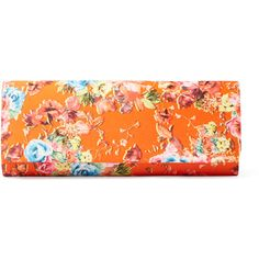 Franchi Floral Roll Clutch ($49) ❤ liked on Polyvore featuring bags, handbags, clutches, multi, floral handbags, flat purse, flower print purse, imitation purses and flap handbags