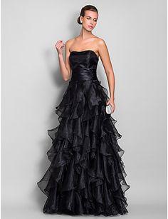 Vestido de Noche Negro con Volantes @  Vestidos de Fiesta Baratos Blog