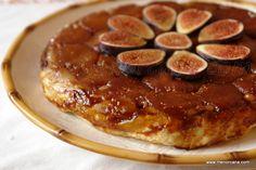 Tarta tatin de higos frescos - Ana en la cocina Queen Cakes, Nutrition, Delicious Desserts, Biscuits, French Toast, Pie, Sweets, Breakfast, Beautiful