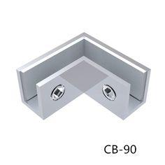 pinces en acier inoxydable de verre, des clips en acier inoxydable, les colliers de verre de 90 degrés