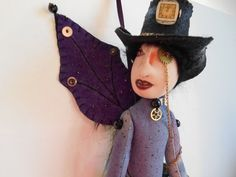 Steampunk, Punk, Goth, Gothic Fairy Doll by MountainDolls on Etsy