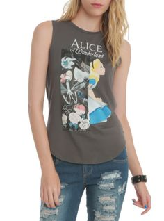 Licensed-Disney-Alice-in-Wonderland-Givenchy-Singlet-Tank-Top-Alternative-Tattoo