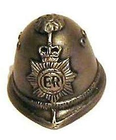 RP:  British Policeman's Helmet Thimble Antique Pewter  | Etsy.com