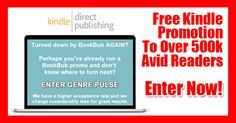 Genre Pulse is offering Kindle authors the chance to access their platform for free.  They have over 500,000 readers in their distribution network.  CLICK NOW to find out more. #GenrePulse