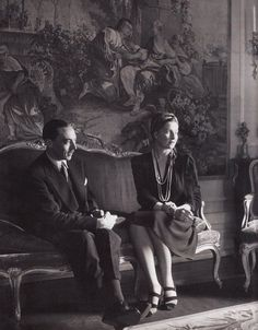 Henri, Count of Paris and his wife, Isabelle, Countess of Paris (nee Princess of Orleans-Braganza).
