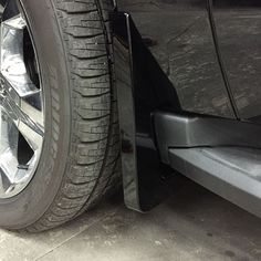 2016 #Suburban Splash Guards, Front Molded, Black, (GBA) Painted: These custom-molded and OEM painted Splash Guards fit directly behind the front wheels of your Suburban to help protect against tire splash and mud.