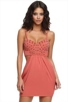House Of Dereon Studded Bustier Dress ...why do I love this?