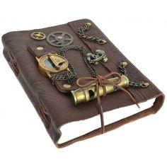 Nautilus Buch Notizblock mit Steampunk Uhr DIN A5-30