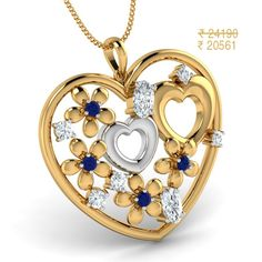 Buy Gold Gifts for Diwali Gold Jewellery Design, Gold Jewelry, Gold Necklace, Jewelry Shop, Jewelry Gifts, Tiny Heart, Valentines Day Hearts, Gold Gifts, Gold Pendant