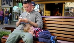 """""""We started in Freo and came here.  He crashed out on my shoulders, so we had to pick a park bench because he was getting heavy."""""""