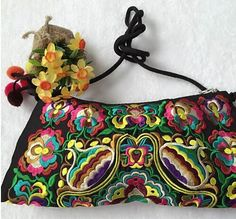 844797a90ecc Embroidered bags national trend handmade double faced embroidery shoulder  messenger bag vintage women s small clutch handbag