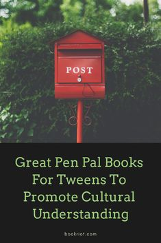 Promote cultural understanding and a love of reading with these excellent pen pal books for tweens (they're great for adults, too!). book lists | middle grade books | book lists for tweens | tween books | middle grade book lists