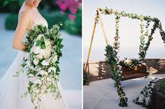 A Greek Garden Recreated: Erwin and Airin's Wedding at The Edge, Bali