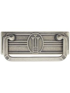 """Bail Pull with Stylized-Flower Back Plate - 2 1/2"""" Center-to-Center 